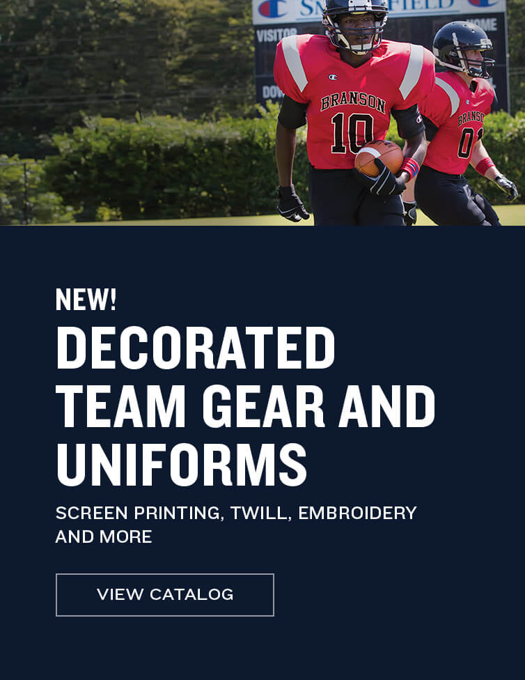 Decorated Team Gear and Uniforms - View Catalog